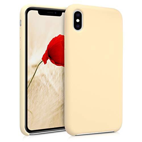 kwmobile Hülle kompatibel mit Apple iPhone XS Max - Handyhülle gummiert - Handy Case in Hellgelb