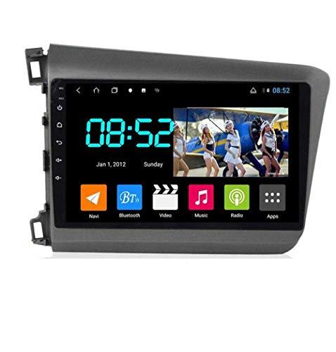 Android 8.1 Navegación GPS Autoradio 9' 1080P Touch Screen Stereo TV para Honda Civic 2012-2015, con control en el volante, Bluetooth, manos libres, Link SWC, RHD-8 núcleos: 4G + WiFi 2G + 32G