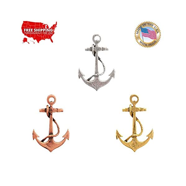 Pirate Brooch Pin, Handmade in The USA - Available in Pewter, Copper, 22k Gold Plated & Hand Painted 4