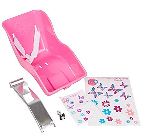 Ride Along Dolly Doll Bike Seat with Decorate Yourself Decals (Fits...