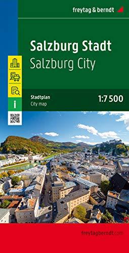 Salzburg Stadt, Stadtplan 1:7.500 - 1:15.000 (freytag & berndt Stadtpläne)
