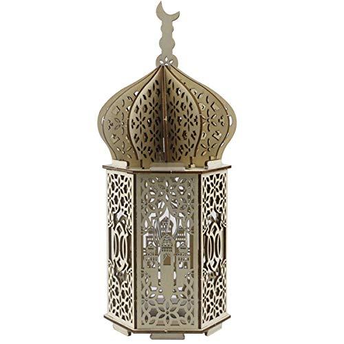 Ramadan - Luces decorativas de madera LED Ramadán, Eid Mubarak, decoración musulmana, regalo islámico, decoración para fiestas, decoración interior de mesa