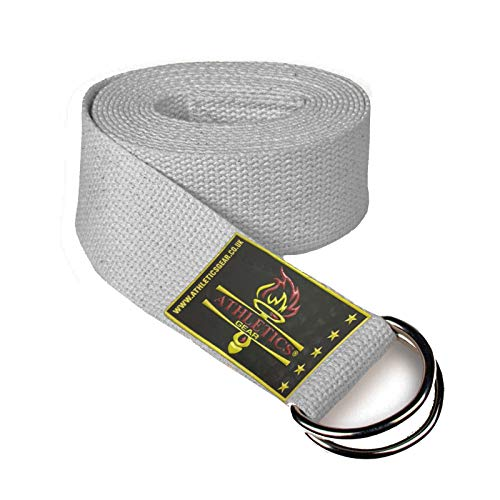 Yoga Strap Belt with Metal D-Ring Buckle, 6ft long & 1.5 inch wide, Made with Durable...