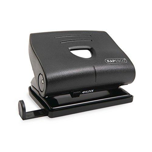 Rapesco 820-P - Perforadora de 2 agujeros, 22 hojas de capacidad, color negro