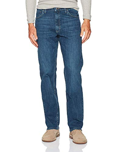 Wrangler Authentics Herren Classic 5-Pocket Relaxed Fit Flex Jeans - Blau - 42W / 30L
