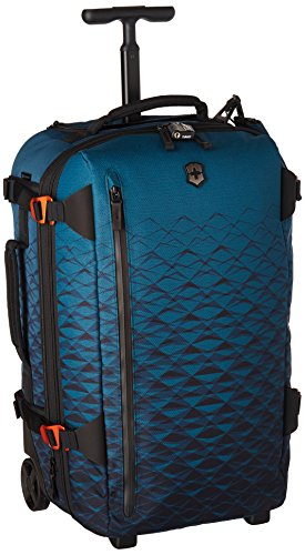 Victorinox VX Touring 2-in-1 Softside Upright Luggage, Dark Teal, Carry-On, Frequent Flyer (22.4')