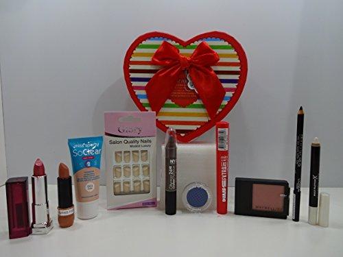 Cadeau de Saint-Valentin ~ Luxe 10pc Maquillage Beauté Boîte cadeau de mix marques Ensemble cadeau pour elle. 82.