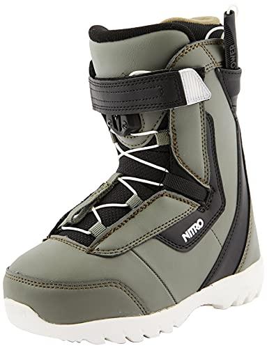 Nitro Snowboards Droid QLS - Stivali da snowboard, unisex, Charcoal-BLK-Wht, 180