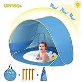 Sanlinkee Tente de plage Pop Up pour enfants, bébé Tente de plage automatique portable anti-UV Abri solaire Intérieur et...