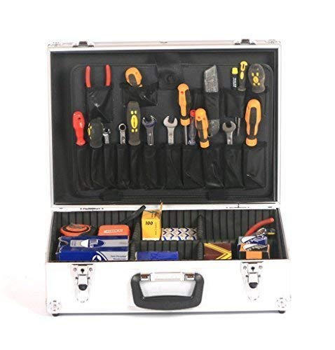 Studio X Aluminium Electricians Joiners Tradesman's Toolbox Tool Storage Box Flight Case Silver by CR7 Cristiano Ronaldo