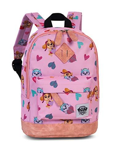Paw Patrol Kinderrucksack Mädchen – Kindergartenrucksack mit verstärktem Boden für Mädchen von 3-6 Jahren mit Skye und Everest von Paw Patrol – 29cm x 21cm x 13cm pink