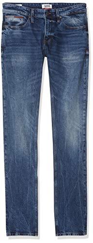 Tommy Hilfiger Herren SCANTON HERITAGE CLDKB Straight Jeans, Blau (Cele Dk Bl Com 911), W34/L30