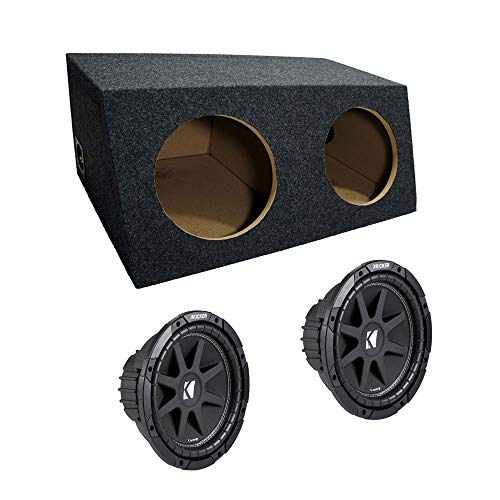 "ASC Package Dual 10"" Kicker Sub Box Sealed Hatch Subwoofer Enclosure C10 Comp 600 Watts Peak"