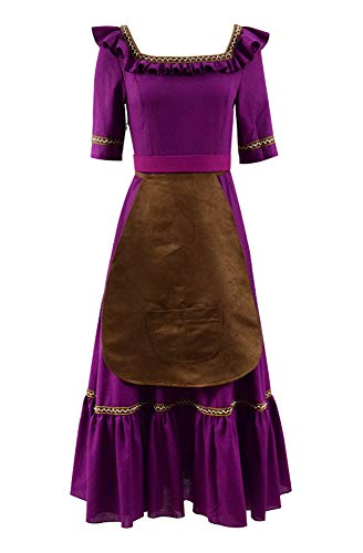 Xiao Maomi Anime Movie Imelda Héctor Costumes Cosplay Purple Gothic Victorian Long Dress for Hallow - coolthings.us