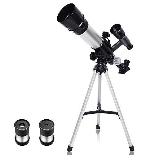 SZRWD Einsteiger Teleskop,Teleskop Astronomisches,RefraktorTeleskop,360mmFokus,50mmDurchmesser,Leistungsstarke Fokussierfähigkeit,Hohe Auflösung,Geeignet für Kinder und Schüler