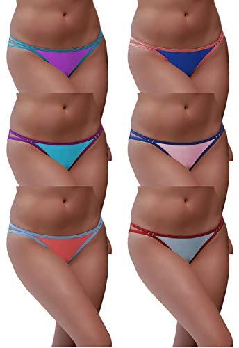 Sexy Basics Womens 6 Pack String Bi…