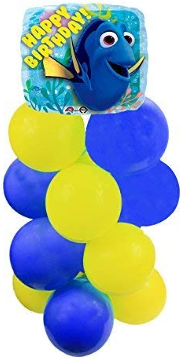 Partysupplybyspursgrl Disney Pixar Finding Dory Birthday Balloon Stand-Up Column Instructions Included