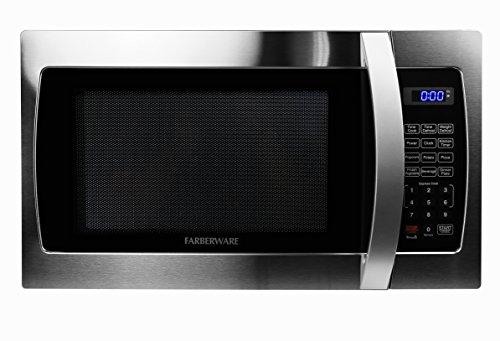 Farberware FMWO13AHTBKE Professional FMO13AHTBKE 1.3 Cubic Foot 1000-Watt Microwave Oven, Stainless Steel