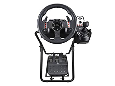 DWDZ Wheel Stand Pro, Racing Simulator Steering Wheel Stand, Adjustable Driving Simulator Cockpit Compatible for Logitech G25, G27, G29, G920 Gaming Cockpit (G920)