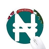 通貨記号ナイジェリア クリスマスツリーの滑り止めゴム形のマウスパッド