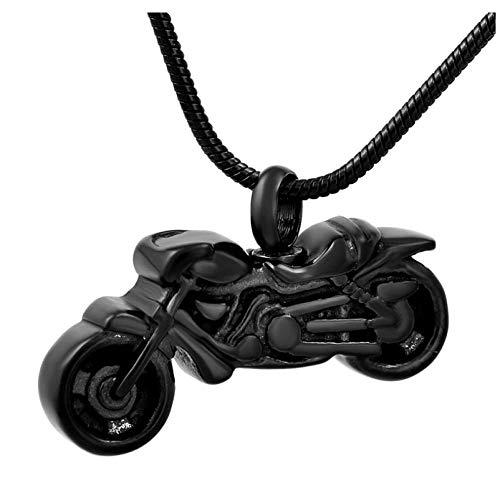 Wxcvz Collar para Cenizas ¡Caliente! La Motocicleta De Acero Inoxidable Urna De Cremación Colgante Collar Mujeres/Hombres Funeral Memorial Cenizas Recuerdo Joyería