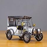 BASOYO Modelo de coche de hierro vintage hecho a mano modelos de vehículos clásicos retro artesanía coleccionable arte de hierro escultura hogar escritorio oficina decoración