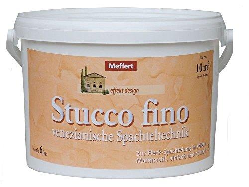 Meffert 6 kg Stucco fino, venezianische Spachteltechnik, Marmor-Optik, Weiß