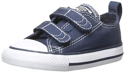 Converse Boys' Chuck Taylor All Star 2V Low Top Sneaker, Navy/White, 10 M US Toddler