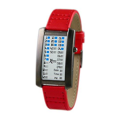 Xtress Reloj Binario para Hombre de Cuarzo con Correa en Cuero XDA1030R
