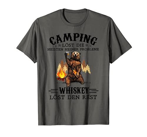 Camping Lost Die Meisten Meiner Probleme Whiskey Lost Den T-Shirt