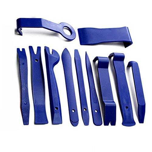 Greatangle 11 unids Kits de eliminación de coches Auto Interior Radio Panel herramienta de reparación Durable Puerta Clip Ventana Recorte Instalación Set azul