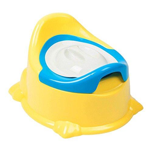 Homyy Baby-Töpfchen, Stuhl, Kinder, WC-Sitz, mit Abdeckung, Musik, Training, faltbar, gelb, Free Size