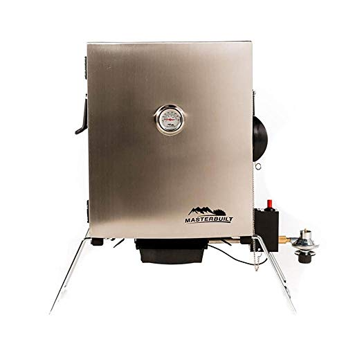 Masterbuilt Compact Outdoor Camping Tailgating Portable Propane BBQ Smoker Grill