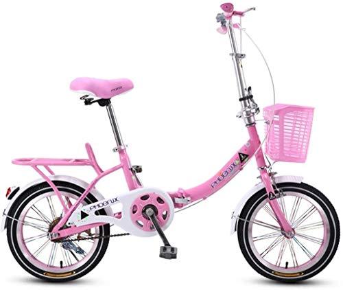 Bicicleta Bicicletas Rosa niños de la Bici Plegable de 20 Pulgadas Chica Camino de la Bicicleta de Estudiantes de Bicicletas Niños Bici Niza Bicicletas Adecuado for niños de 3~16 De Bicicletas (Colo
