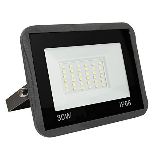 Projecteur LED Exterieur 30W, Yinet-EU Spot LED Extérieur 3000LM Lampe Projecteur LED Blanc Froid 6000K Sécurité Floodlight IP66 Imperméable pour Jardin Artelier Terrasse Entrée Garage