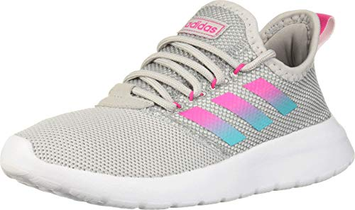 adidas Women's LITE Racer RBN Running Shoe, Grey/Shock Pink/Hi-Res Aqua, 6.5 Medium US