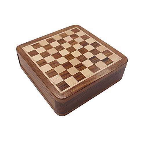 Ajedrez internacional Conjunto de ajedrez magnético Super Mini, tabla de almacenamiento plegable...