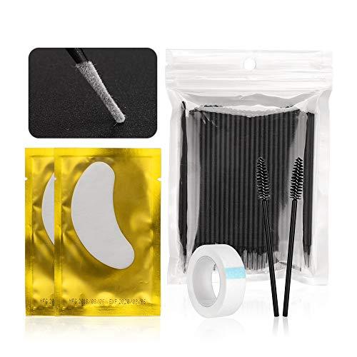 Outils d'extension de cils Set Kit de maquillage pour greffer des cils costume de faux cils Extension pratique d'exercice noir