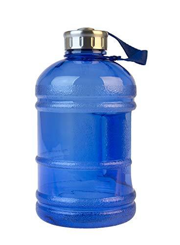 Multibrands Gym Bottle Fitness 1890 ml, libre de BPA, XXL botella de 1/2 galones (azul)
