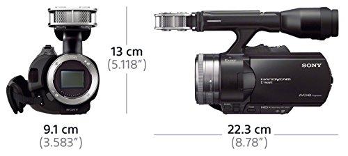 Sony NEX-VG30EH Full HD-Camcorder mit Wechseloptik (16,1 Megapixel Exmor Sensor, 11,1-fach opt. Zoom, 7,6 cm (3 Zoll) Display, HDMI) inkl. SEL-P18200 Power-Zoom Objektiv schwarz