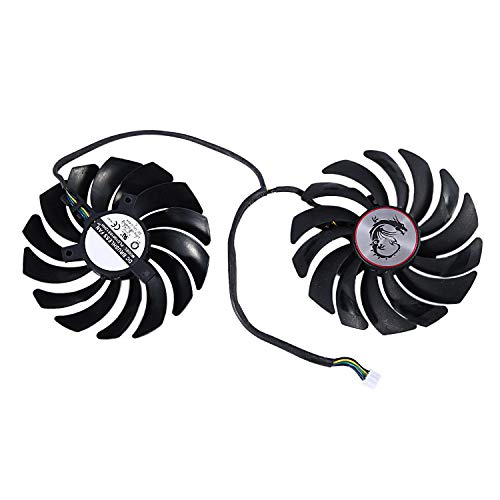 Tuneway DC12V PLD10010S12HH - Ventilador de refrigeración de 4 pines para MSI GTX1080Ti 1080 1070 1060 RX470 480 570 580 Image Card Cooler PLD10010S