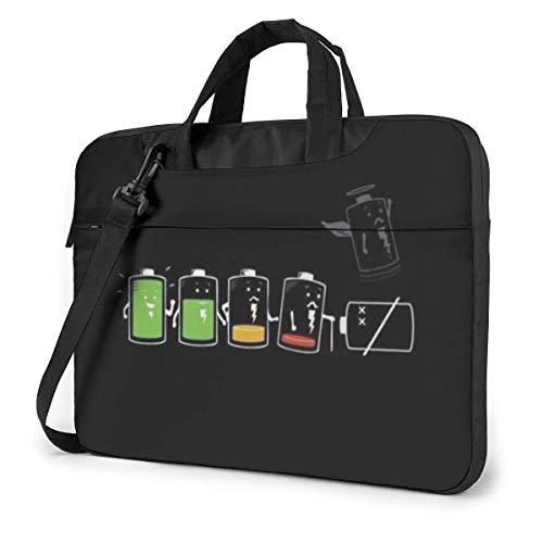 Battery Power Shortage Laptop Sleeve Case 14 Inch Computer Tote Bag Shoulder Messenger Briefcase for Business Travel