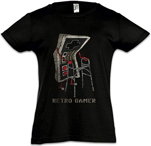 Urban Backwoods Retro Gamer Kinderen Meisjes T-Shirt Black