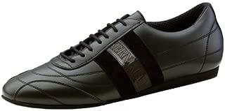 Mens 28033 Black Leather/Suede Sneaker (Comfort Line)