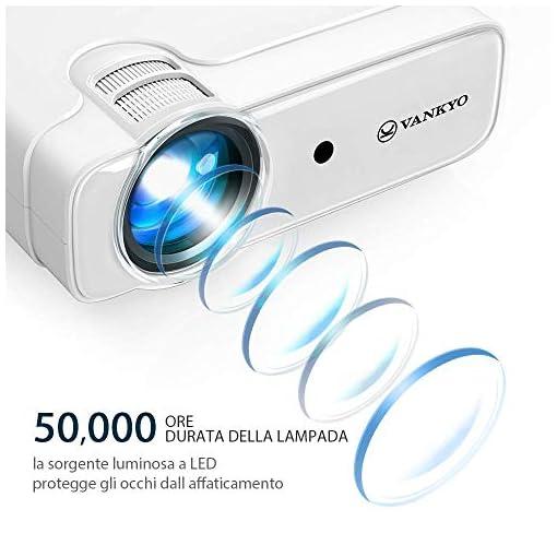 VANKYO Proyector 5000 lúmenes con Pantalla de 236 Pulgadas, soporta 1080P, HiFi Speaker, con Bolsa portátil, para TV… 4