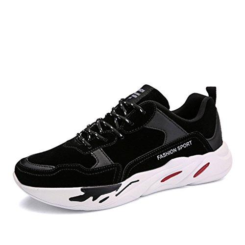 Chaussure de Course Running Homme Basket Mode Autommne Hiver Plat Style Multicolore Imperméable Noir 40