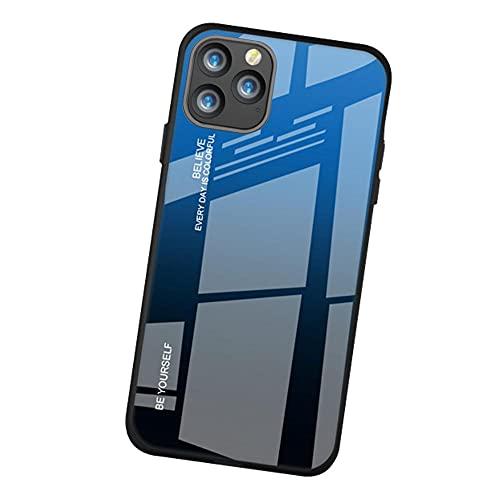 Oihxse Degradado Colorido Phone Funda Compatible con Samsung Galaxy A40, Contraportada de Vidrio Templado + Marco de TPU Suave, Gradiente Anti-Arañazos Anti-Arañazos Carcasas