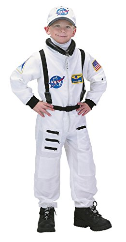 Aeromax NASA Jr. Astronaut Suit White Toddler/Child Costume White