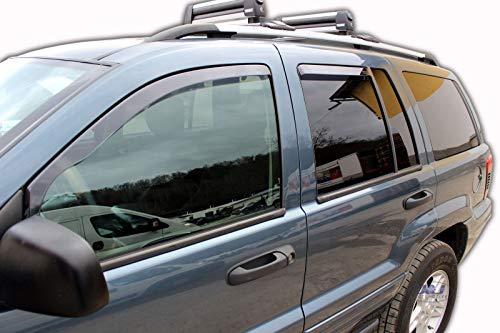 J&J AUTOMOTIVE Windabweiser Regenabweiser für Grand Cherokee 5-türer 1999-2005 4tlg HEKO dunkel