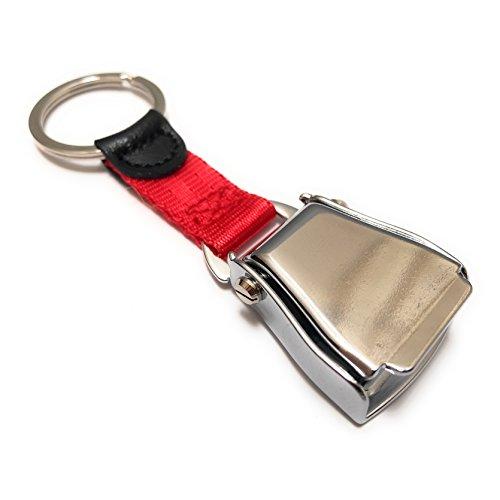 Llavero del cinturón de Seguridad del Aeroplano   Etiqueta de Equipaje Rojo - Acabado Brillante